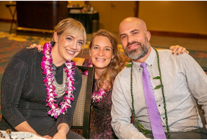 Lila's parents, Quinn and Kristi Kimball with Founder Heidi Low